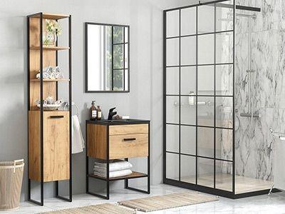 Brooklin - meble do łazienki w stylu loftowym i industrialnym.