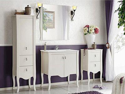Elisabeth piekna kolekcja białych mebli łazienkowych- naturalne drewno