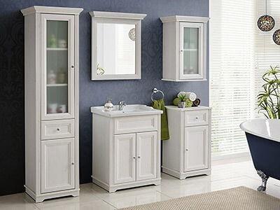 Palace White- eleganckie, gustowne białe szafki do łazienki- Sprawdź