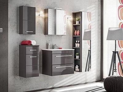 Twist- nowoczesny styl i funkcjonalność grafitowych mebli łazienkowych